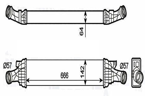 526567J Интеркулер AUDI A/S4/6 ALLROAD(09-)