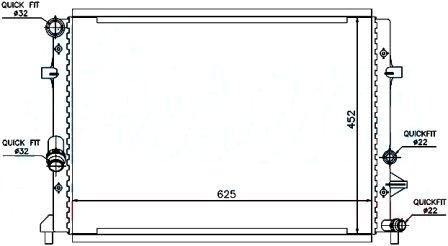 65295 Радиатор охлаждения дляSKODAYETI 09-