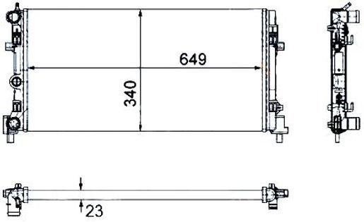 РадиаторROOMSTER 07- модельный ряд (5J) Для двигателей - 1.2 i 12V - 1.4 i 16V -1.4 TDi -1.6 i 16V -1.9 TDi
