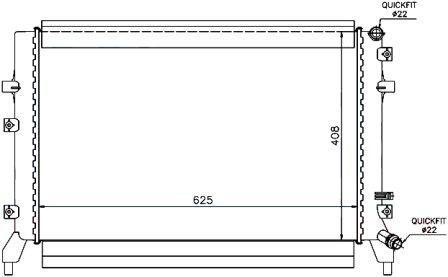 65294 Радиатор охлаждения дляSKODAYETI 09-