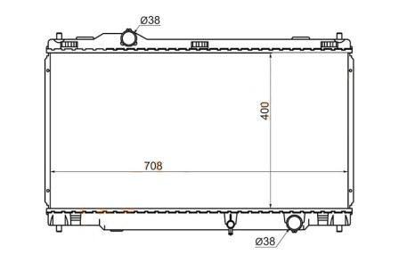 Радиатор LEXUS GS300 /460 /430 /350 /450H 04-
