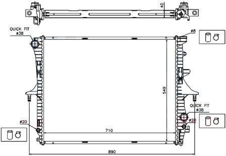 CAYENNE (02-) радиатор охлаждения