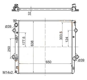 радиатор охлаждения LEXUS GX460 с10г TYS009-GX460
