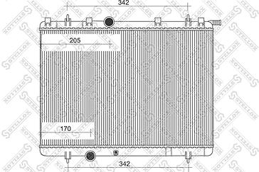 Радиатор охлаждения PEUGEOT 206