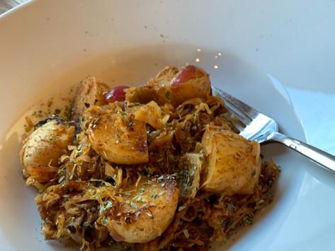 Bratkartoffeln mit Sauerkraut