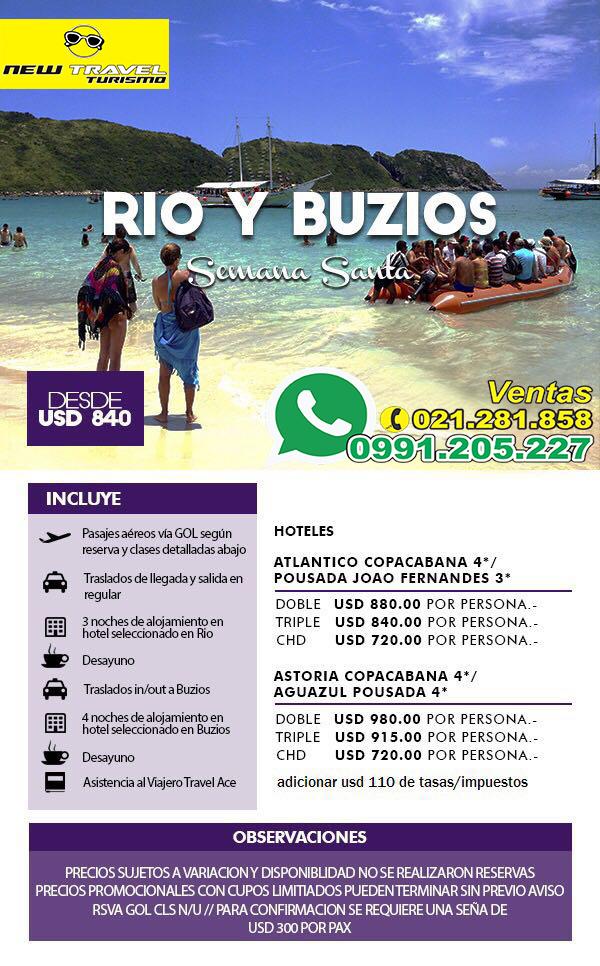 RIO Y BUZIOS Semana Santa 2016