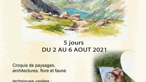 Stage carnet de voyage dans le Beaufortain du 2 au 6 août 2021