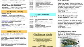 Programme des cours et stages 2020-2021