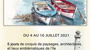 Carnet de voyage sur l'ile d'Yeu                   du 4 au 10 juillet 2021