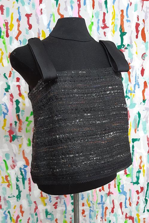 Noir Tweed Sleeveless Top