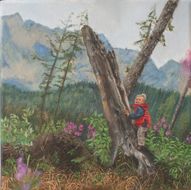 The Boy in Alps