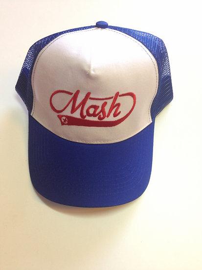 Gorra blanca y azul Logo Vintage