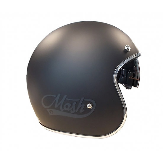 Casco Cafe Racer negro mate