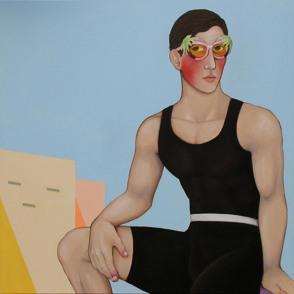 """Rock me"", acrylic on canvas, 70x70 cm"
