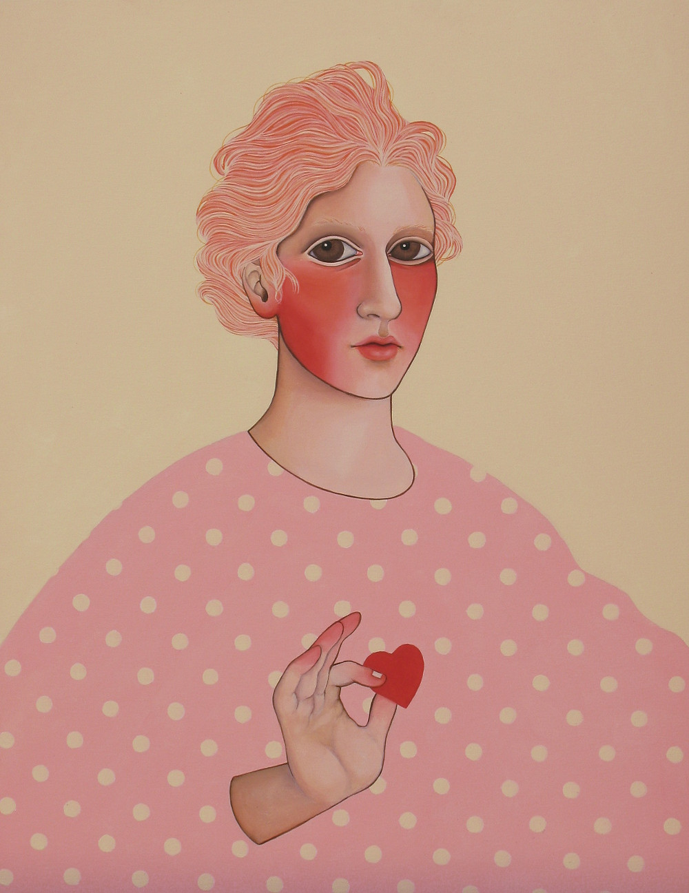 """""""Take another little piece of my heart"""", acrylic on canvas, 60x80 cm, 2018"""
