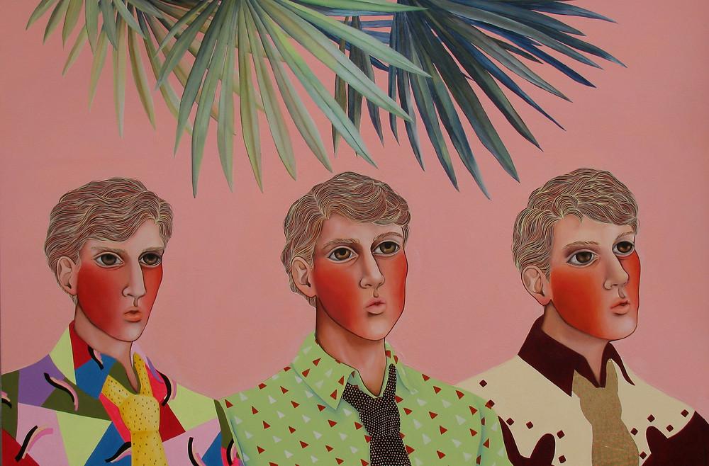 """Paris Latino"", acrylic on canvas, 80x120 cm, 2018"