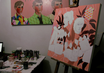 Another artwork of the serie on the easel today