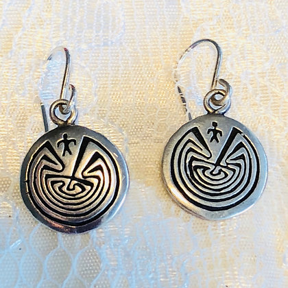 Man in the Maze Petroglyph Earrings