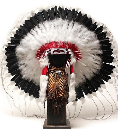 Shadow Warrior Bonnet with Beaded Band