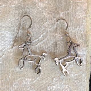 Sterling Outline Horse Earrings