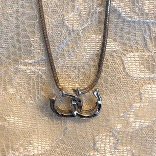Double Horseshoes Necklace
