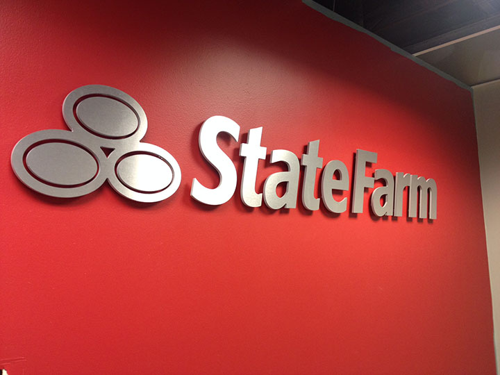 D-State Farm brushed on red