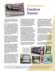 Canton sign company Creative Source profile in Jackson-Belden Chamber news
