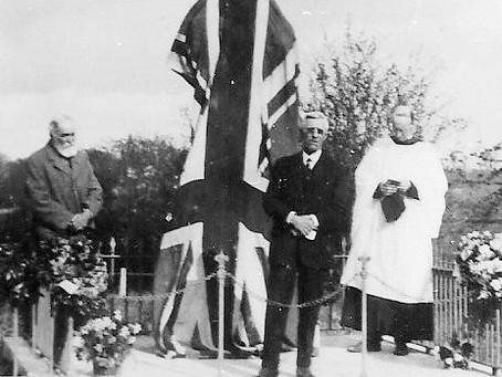 Unveiling of War Memorial
