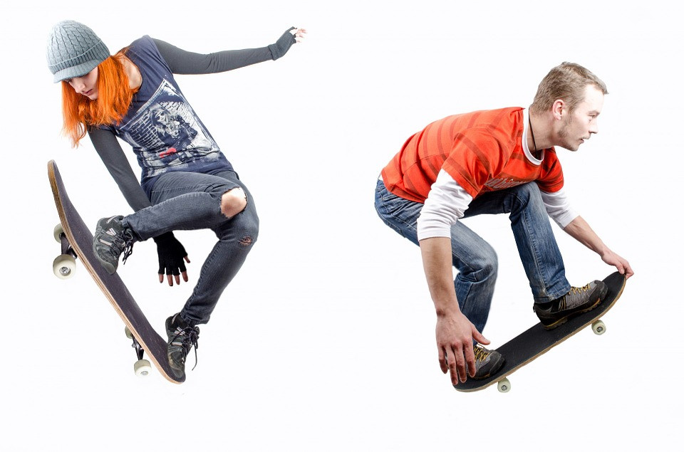 Skate boarding AND a rock concert