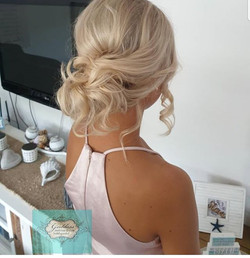 Bridesmaids and Brides relaxed glam Hair