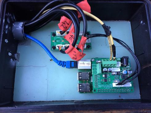 Data logger and temperature sensor installation