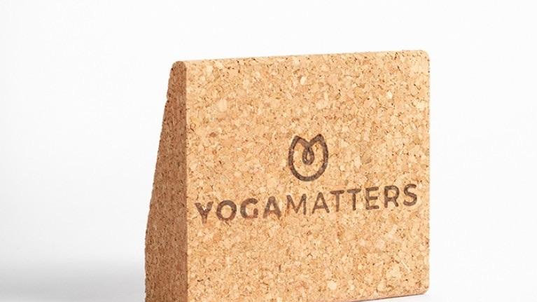 Yogamatters pocket size cork wedge (pair)