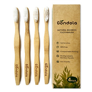 Adult Natural Bamboo Toothbrush - 4 Pack