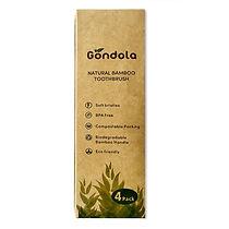 Gondola 4 pack  natural bamboo toothbrus