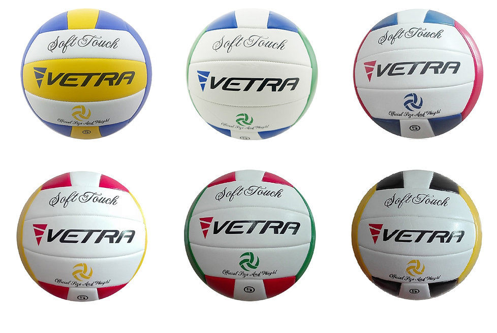 ALL COLORS VETRA SOFT TOUCH VOLLEY BALL.