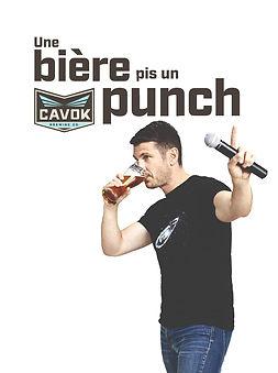 Affiche - Une bière pis un punch