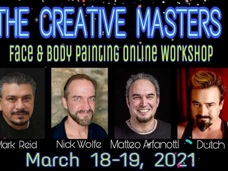 Streaming Dutch Bihary For 'The Creative Masters' Face & Body Painting Online Workshop