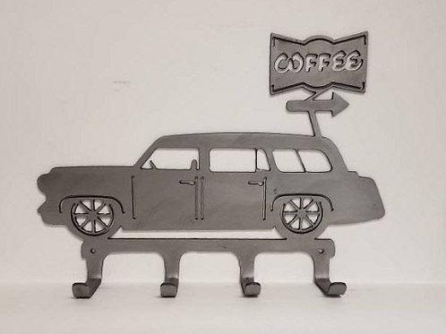 IFS Cruising Across America Series #3 * Nomad and Coffee Metal Wall Hanger to Ho