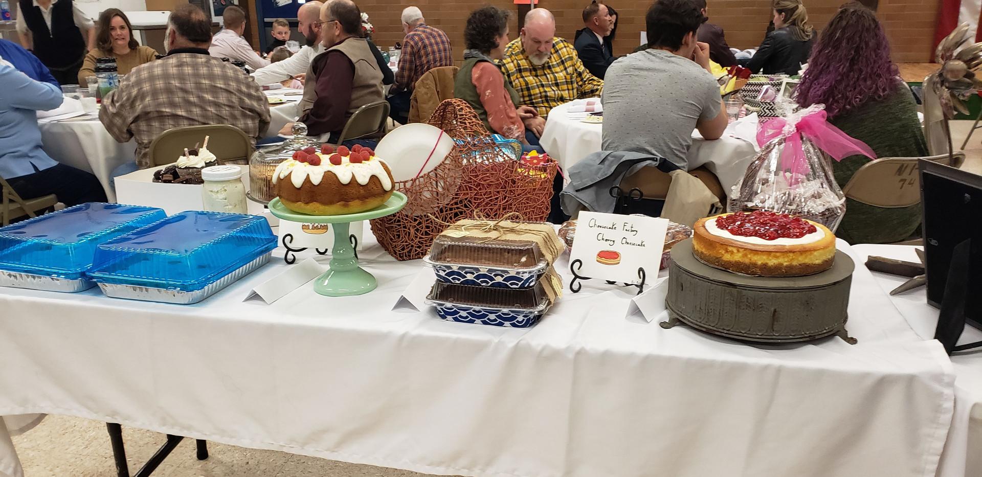 Raffle Desserts