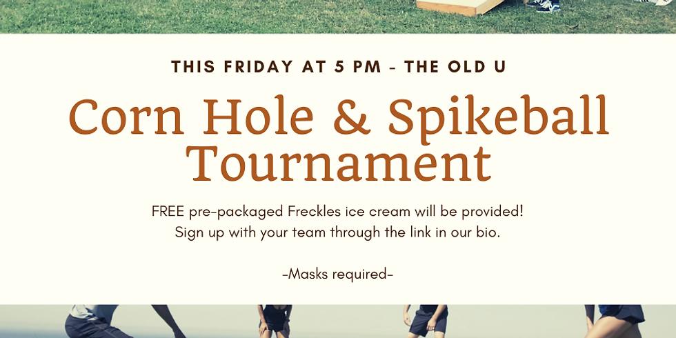 Cornhole and Spikeball Tournament