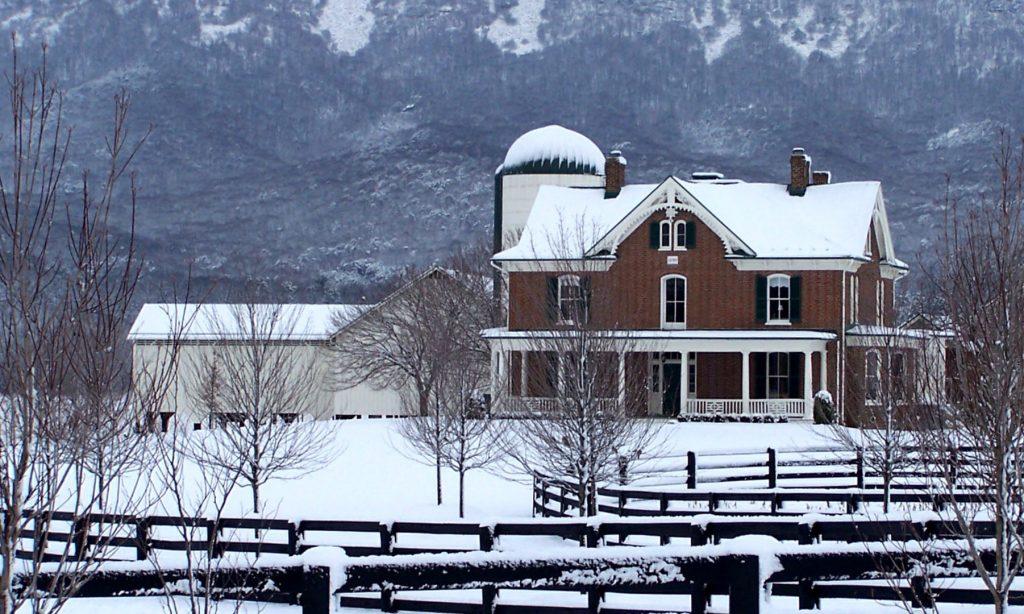 Brick farmhouse built in 1890