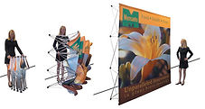 pop up display, tradeshow, fabric display, tabletop