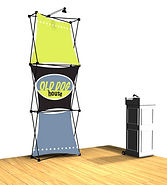 tradeshow, fabric, display, floor model