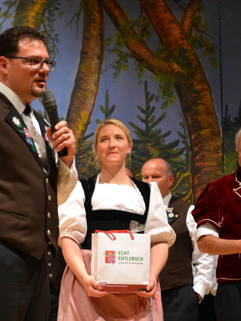 Präsident Marco Riedweg, Barbara Klossner, Dirigent Ruedi Renggli