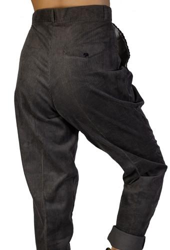 be6e582ba Vintage 1990s Thick Grey Corduroy Pants
