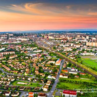 Levé de soleil sur Toulouse - 03/05/2020 TOULOUSE  (31) - FRANCE DJI MAVIC 2 PRO
