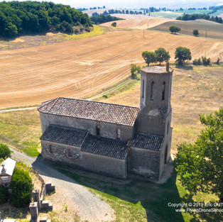 Eglise de Saint Martin de Grizac - 31/08/2019  PUYBEGON (81) - FRANCE DJI MAVIC 2 PRO