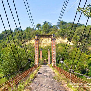 Pont Suspendu de Bourret - 29/08/2019  BOURRET (82) - FRANCE DJI MAVIC 2 PRO