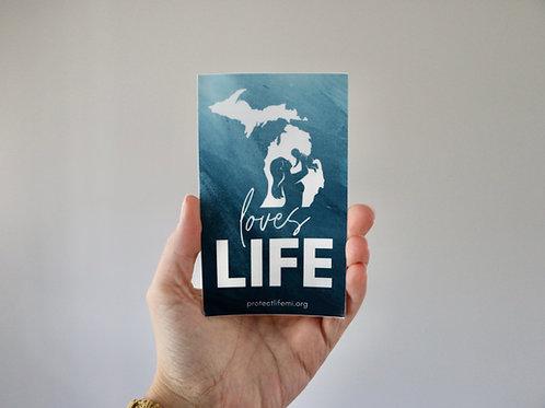Michigan Loves Life Sticker