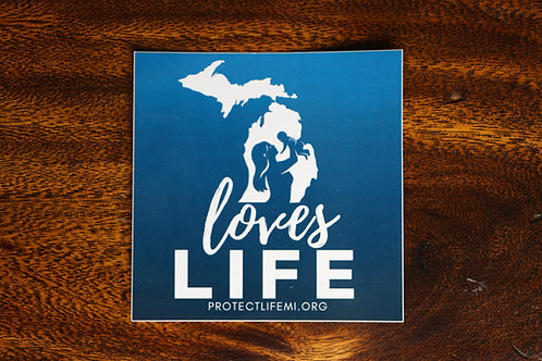 Michigan Loves Life Sticker - old